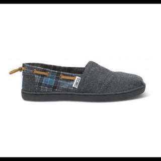 TOMS 格紋抽繩鞋