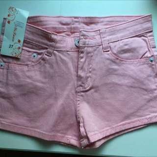 粉色短褲 27腰