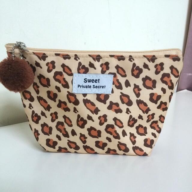 豹紋毛球收納包