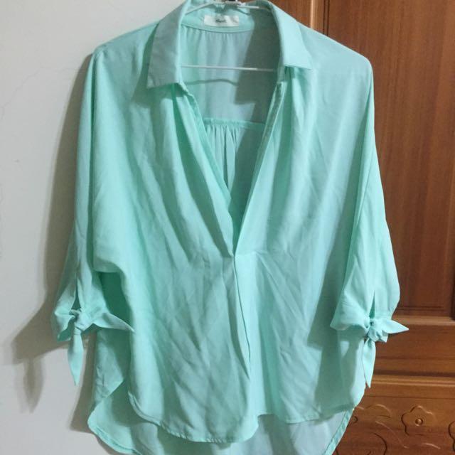 雪紡襯衫(淺綠)