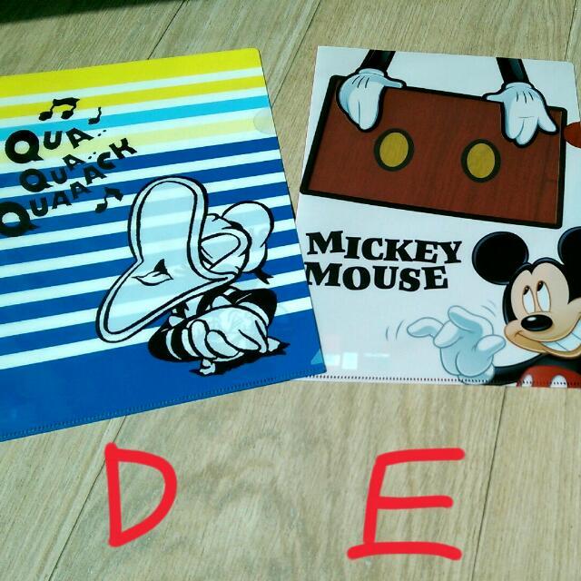 """【新加坡 帶回】""""正版""""迪士尼系列-唐老鴨、米老鼠米奇文件夾"""