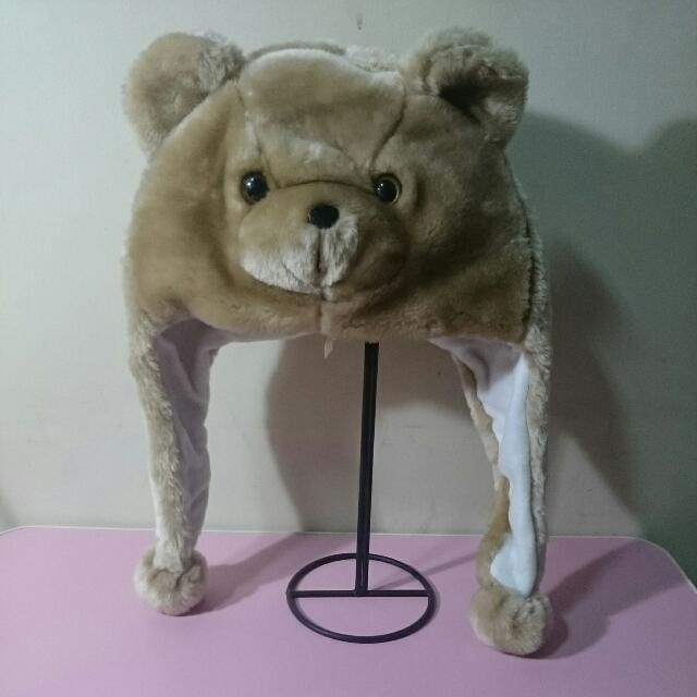 小熊造型 立體保暖帽