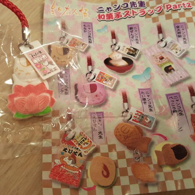 夏目友人帳 貓咪老師 和菓子系列吊飾