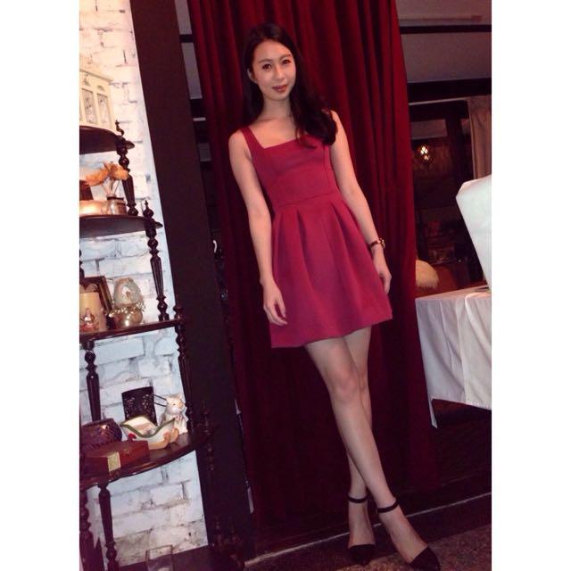 ASOS棗紅色洋裝