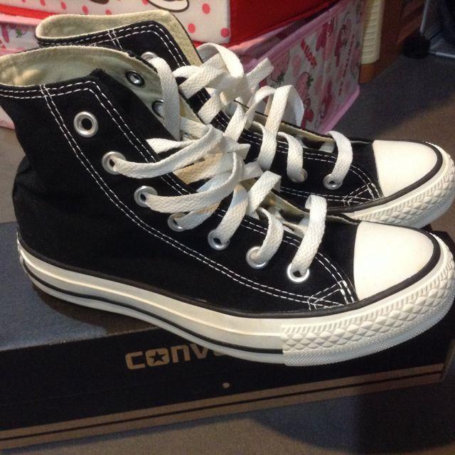 正版Converse高筒帆布鞋22號(35)*九成新