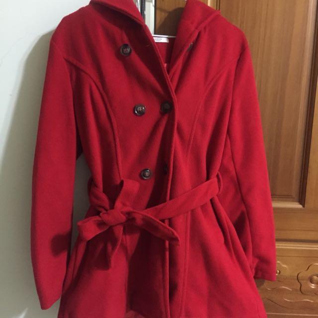 紅色雙排扣外套(F)