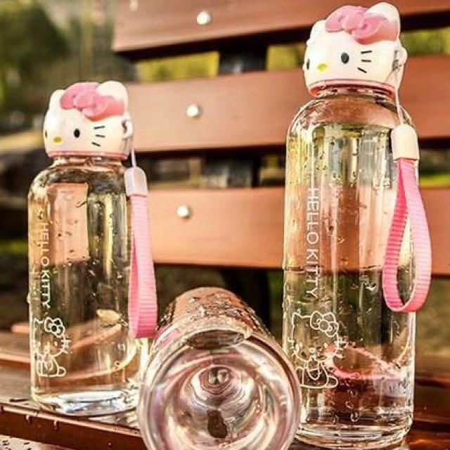 Kitty頭造型創意玻璃水瓶~~~