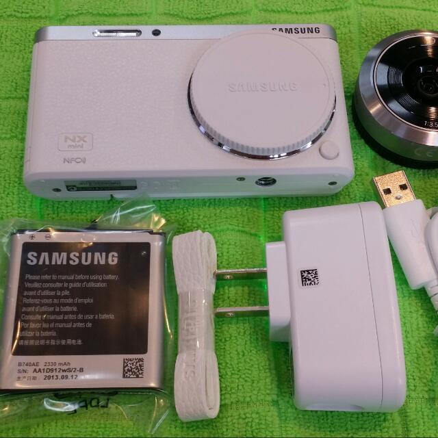 samsung nx mini  9mm定焦鏡相機(福利品9成新,有小小刮傷)三星一年保固