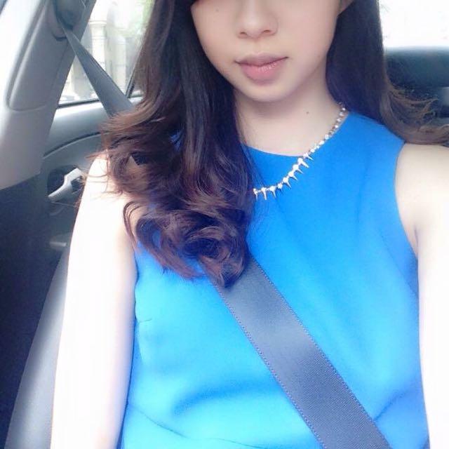 ZARA藍色短裙