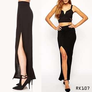 Basic Slit Maxi Skirt RK107