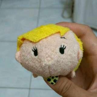 Tsum Tsum 黃毛小子 彼得潘 娃娃 玩偶 擦拭布 迪士尼