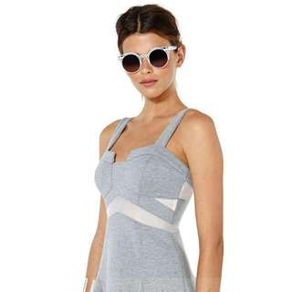 全新 歐美設計款立體剪裁拼接溜冰連衣裙
