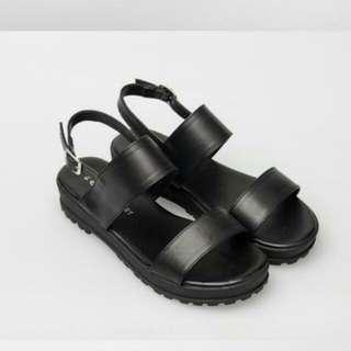 富發牌 雙條厚底涼鞋