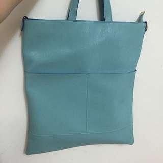 藍色撞色包包