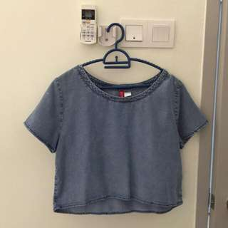 H&M Denim Crop Top
