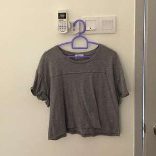 Seed Grey Crop Top