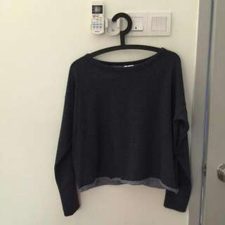 H&M Dark Grey Cropped Sweater