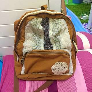 日系蕾絲風格後背包