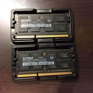 Elpida 筆電型ddr 4GB 兩條