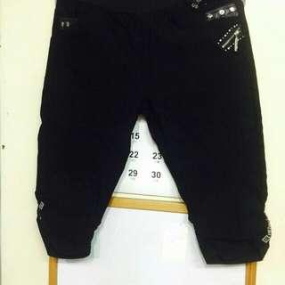 全新韓版貼鑽6分褲