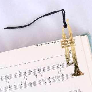 Musical Instrument Bookmark - Trumpet