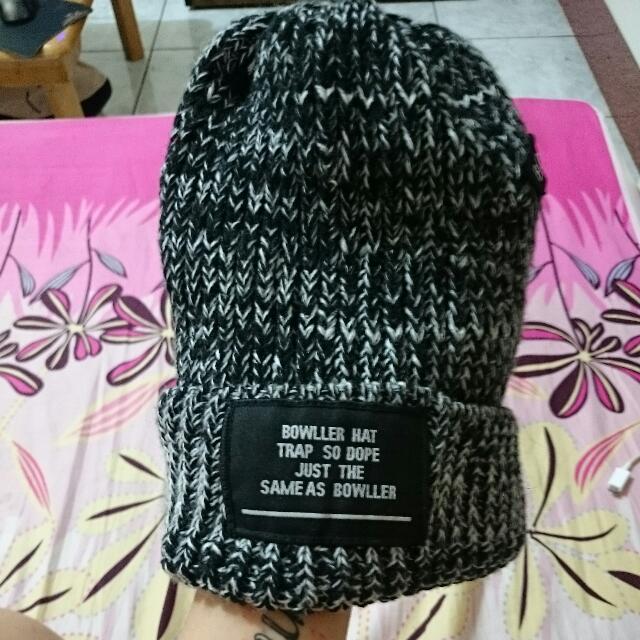 黑白灰針織毛帽