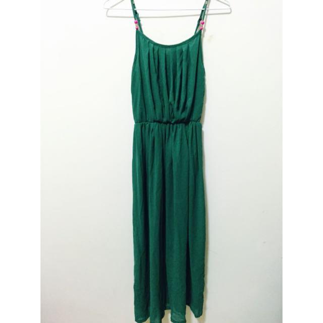 (保留中)綠色長洋裝