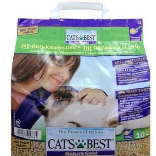 德國凱優 Cat's Best 長毛貓凝結木屑砂(紫標)一包390 10L