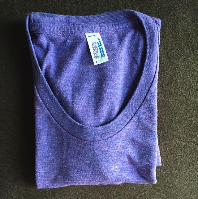 🉐️美國American Apparel AA 紫色仿舊上衣