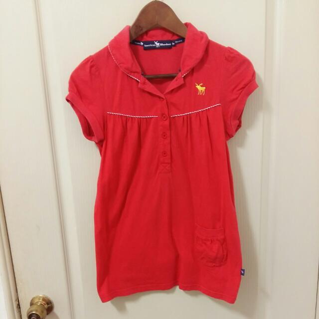 (降!)百貨專櫃American Bluedeer,紅色polo衫