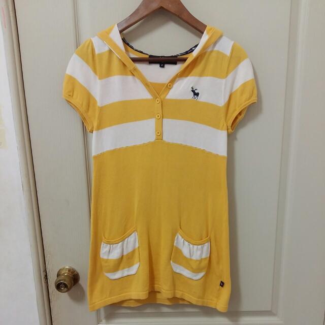 (降!)百貨專櫃American Bluedeer,黃色針織帽T