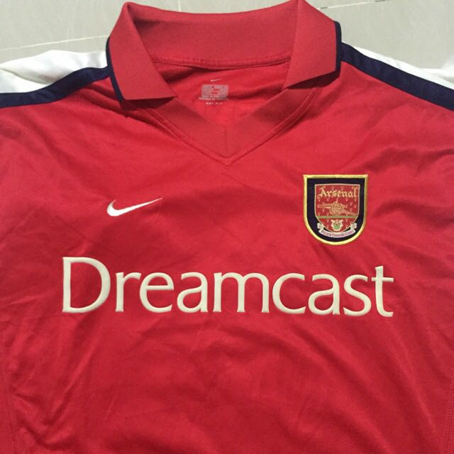new style 62e03 cb996 Arsenal home kit 1999/2000 Dreamcast With Thierry Henry lextra Nameset