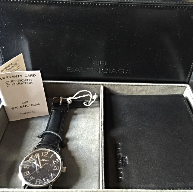 5f71cb42f9705 Authentic New balenciaga Watch And Wallet