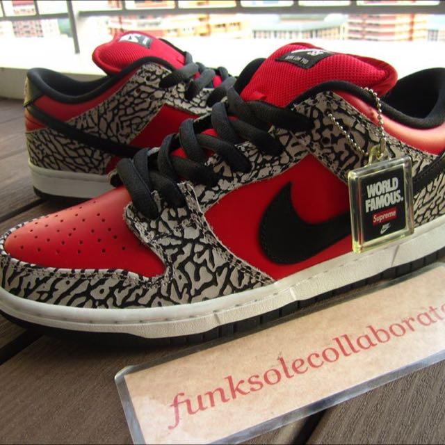 ffa61f27cb32 DS US8 Nike Dunk SB Supreme Red 2012