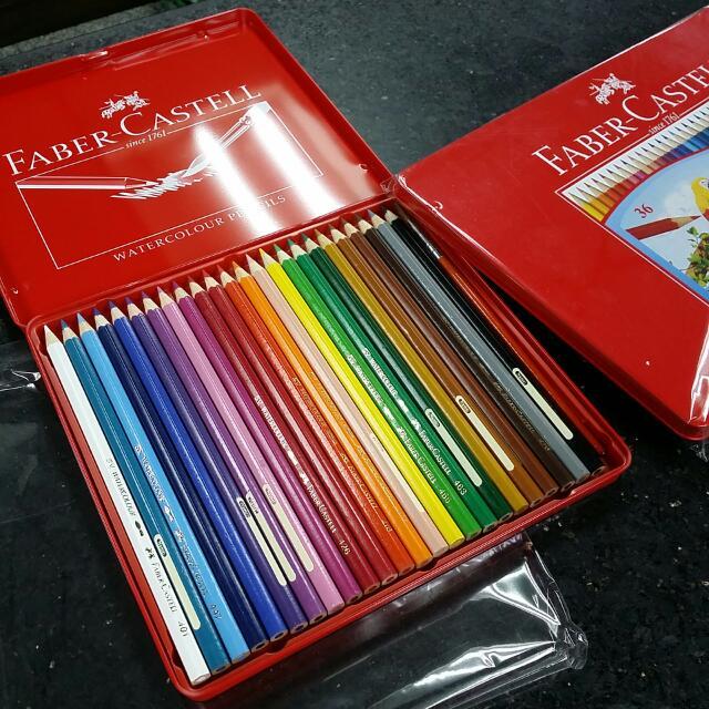 Faber-Castell 24色鐵盒裝 水性色鉛筆