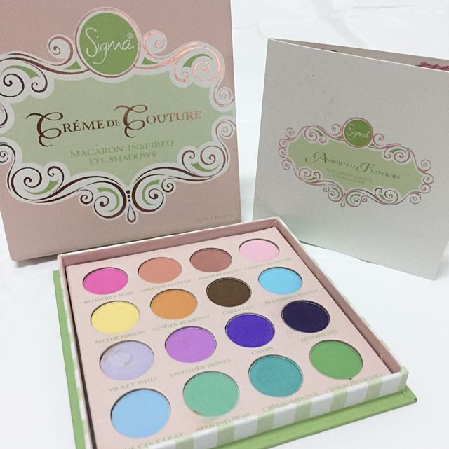 *LIMITED EDITION* Sigma Créme De Couture Macaron Inspired Eye Shadows