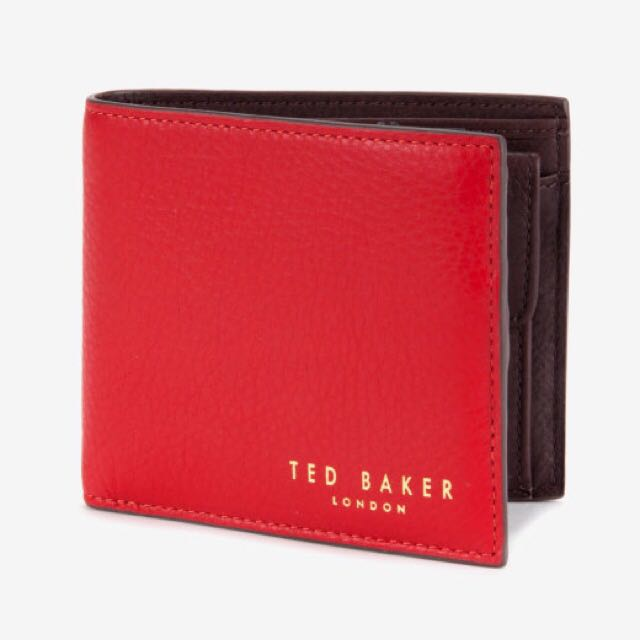 d1d44bace96 NEW Ted Baker 100%Leather Bifold Wallet W/ Coin Pouch, Men's Fashion ...