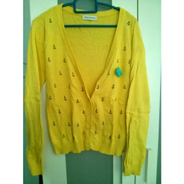 P&co Yellow Cardigan ( Preloved )