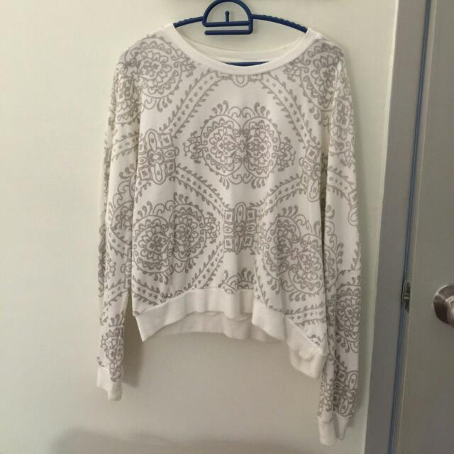Seed White Cropped Sweater