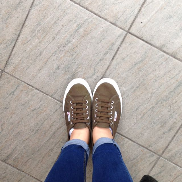 Superga義大利國民帆布鞋(軍綠色