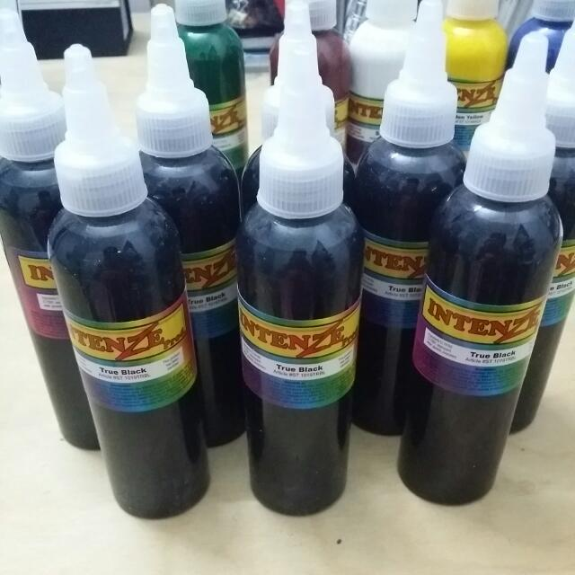Tattoo Ink (Branded: Intenze, Sterilized, High Quality US Tattoo Ink, Large Bottle)