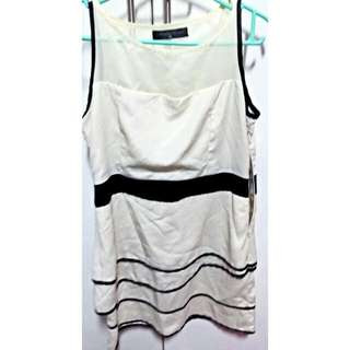 Beige Sleeveless Dress