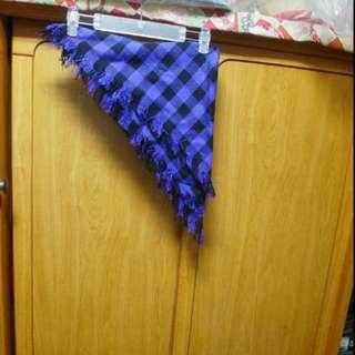 歐美百變女郎紫x黑格紋領巾