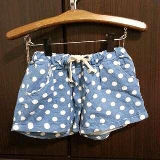 藍色點點小短褲居家褲