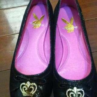 Playboy真皮娃娃鞋