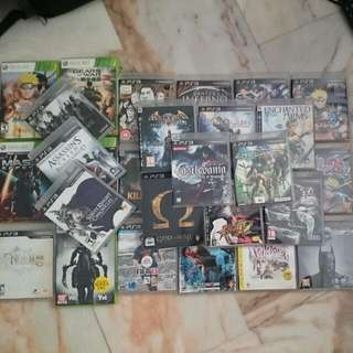 Various PS3 And Xbox 360 Games