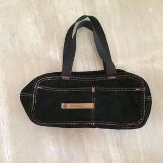 Diesel Corduroy Black Shoulder Bag