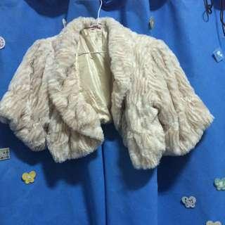 絨毛小外套-米色