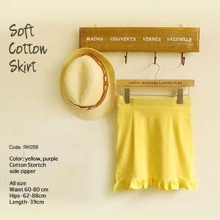 [SALE] Soft Cotton Stretch Skirt LIMITED RK058