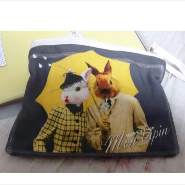 法國紳士兔化妝包